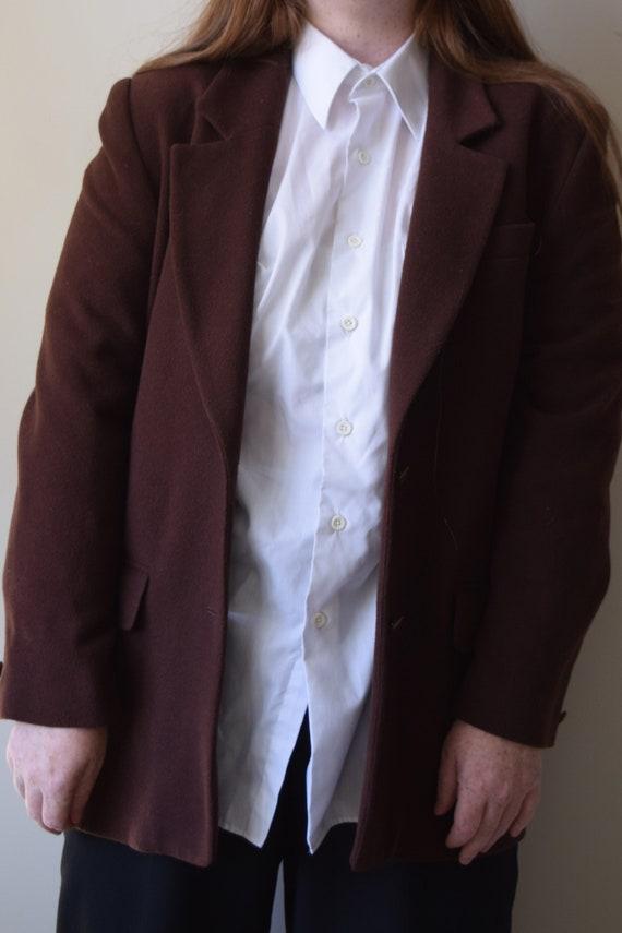 Chestnut Wool & Cashmere Blazer