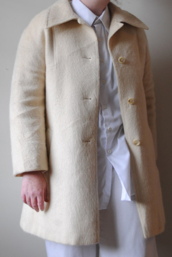 Vintage 70s Cream Wool Coat