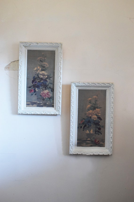 Set of Two Framed Floral Prints.