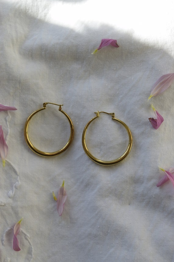 Gold Latch Back Hoops