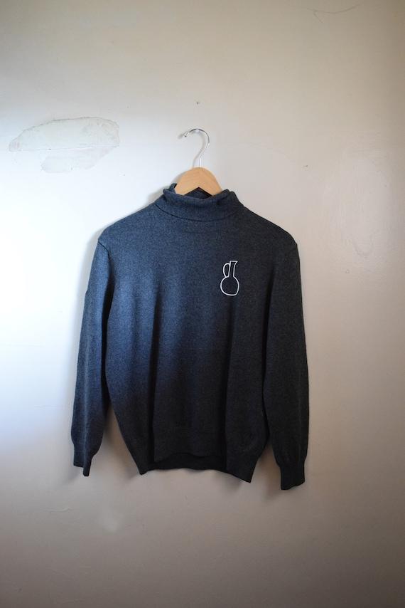 Charcoal Daia Wool Turtleneck Sweater