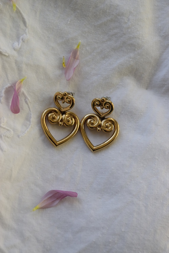 Tiered Heart Studs