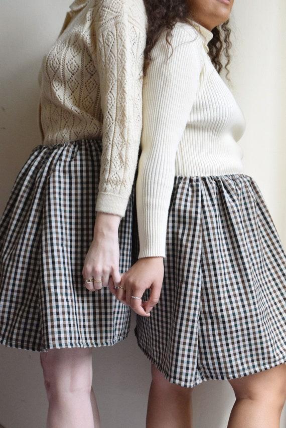 Plaid High Waist A-Line Skirt