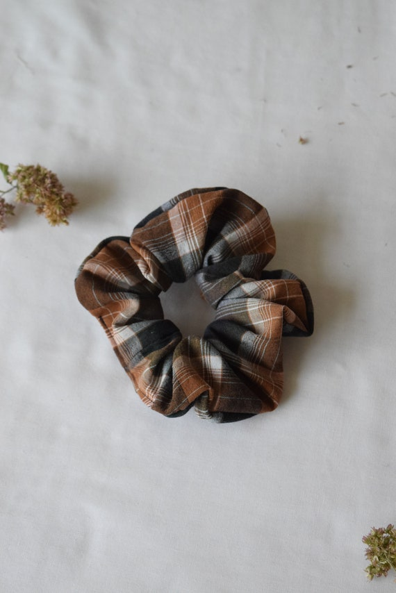 Forrest Plaid Hair Scrunchie