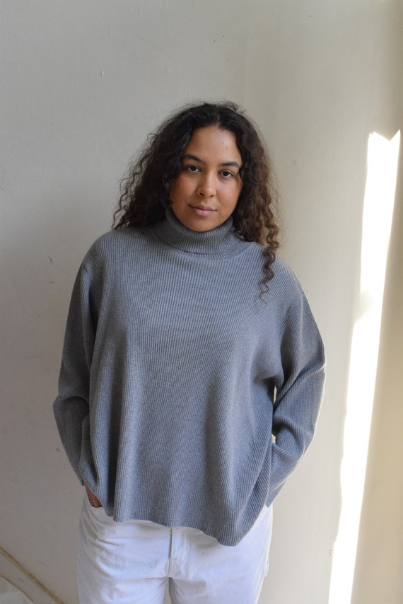 Fossil Ribbed Turtleneck Pullover