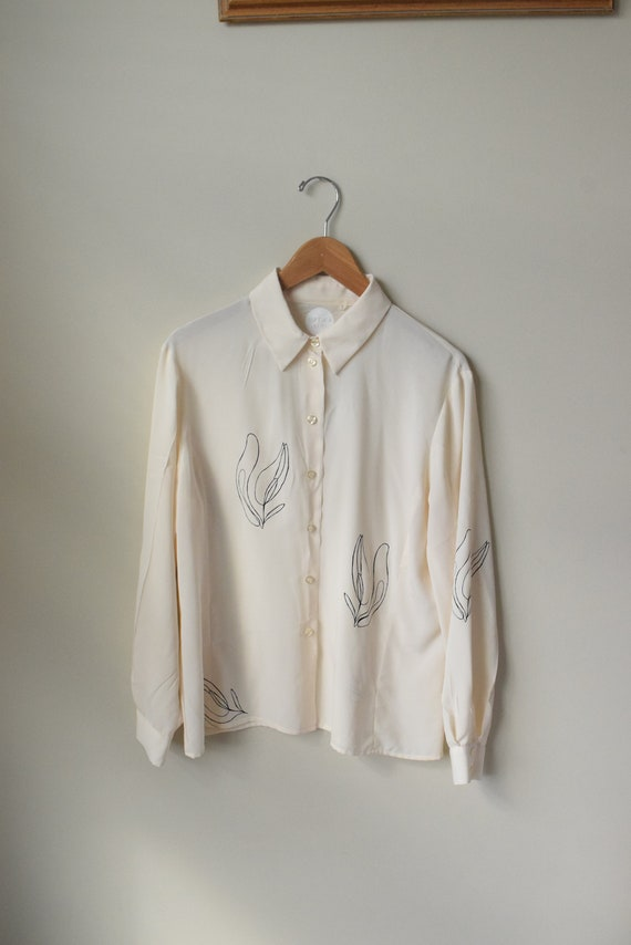 Lilja Cream Long Sleeve Blouse