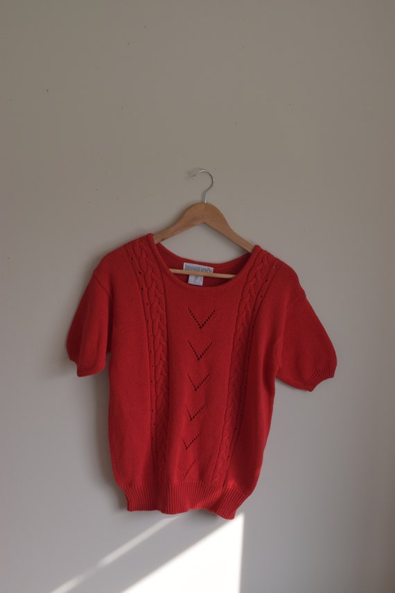 Woodwards Red Cable Knit Tee