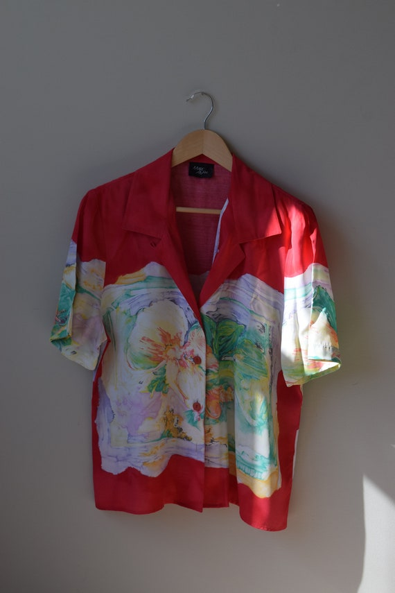 Water-colour Button Down