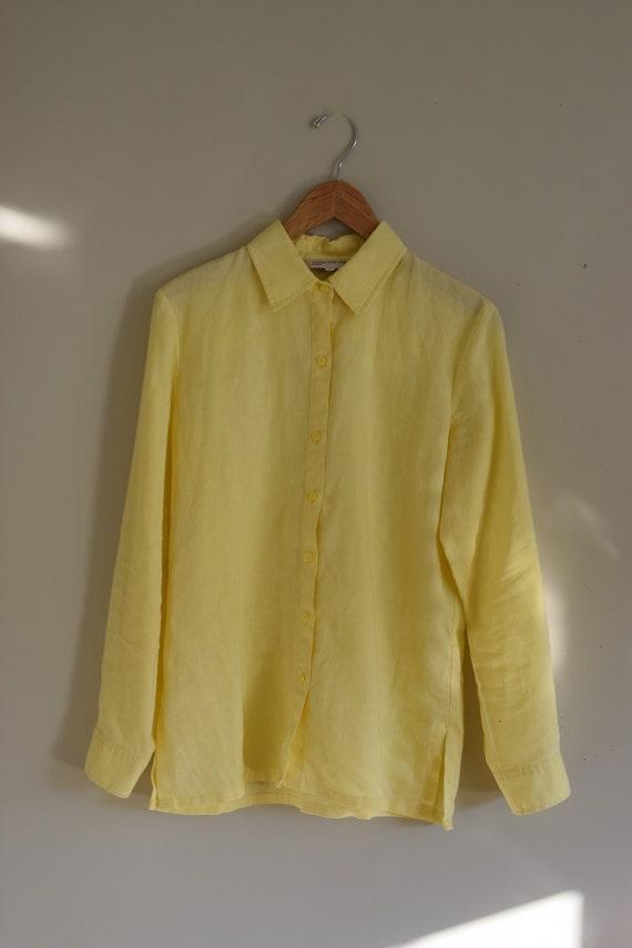 Lemon Curd Linen Blouse