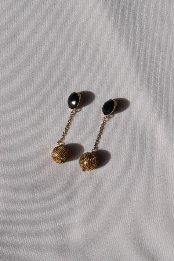 Vintage Chainmail Dangle Earrings.