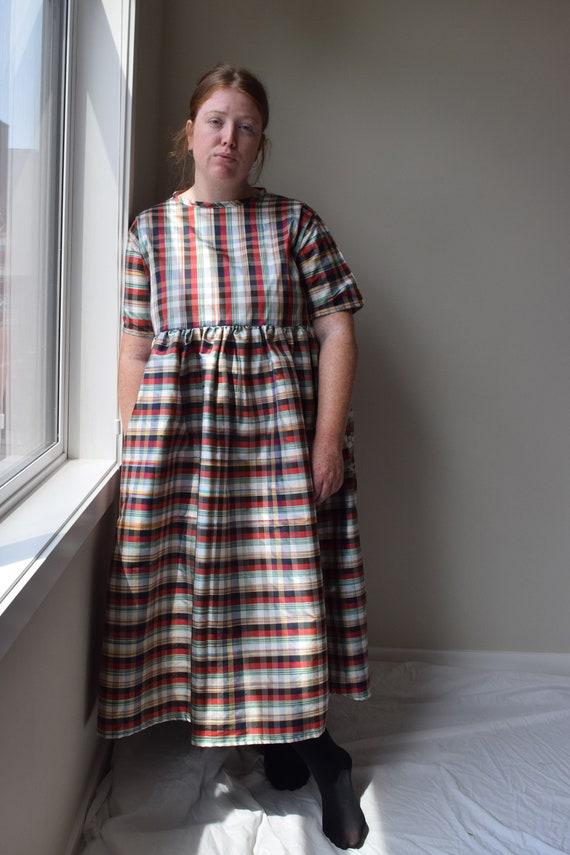 Silk Tartan Dress