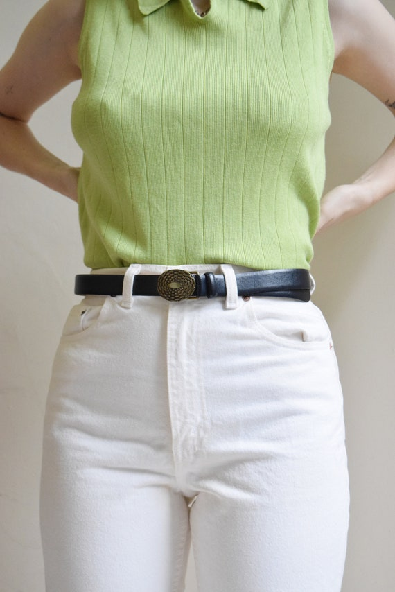 Black and Brass Belt