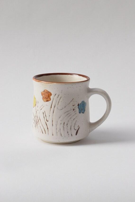 Speckled Floral Ceramic Mug
