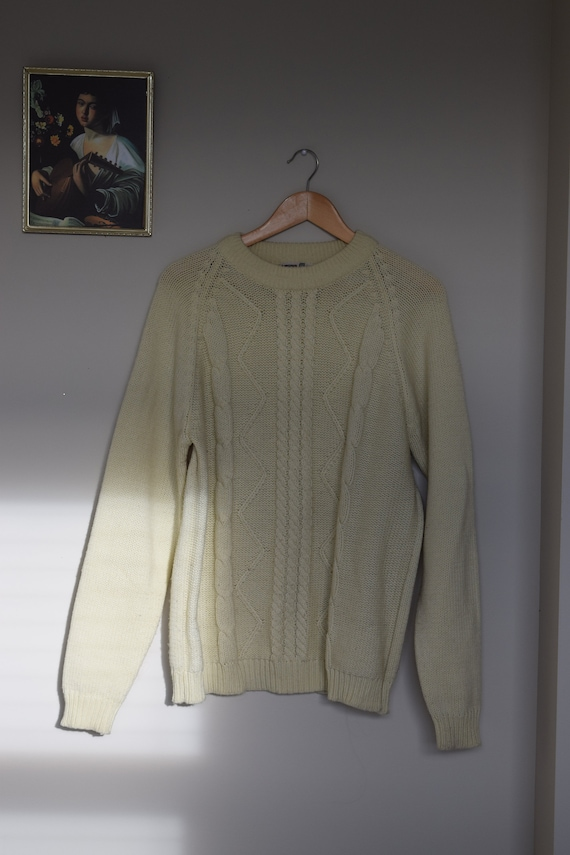 Cream Cableknit Pull Over