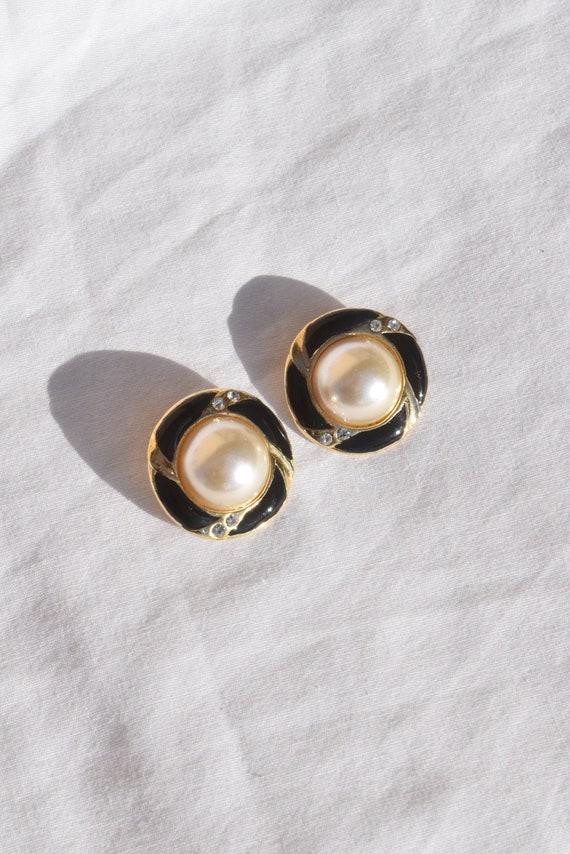 Vintage Pearl Clip-On Earrings.