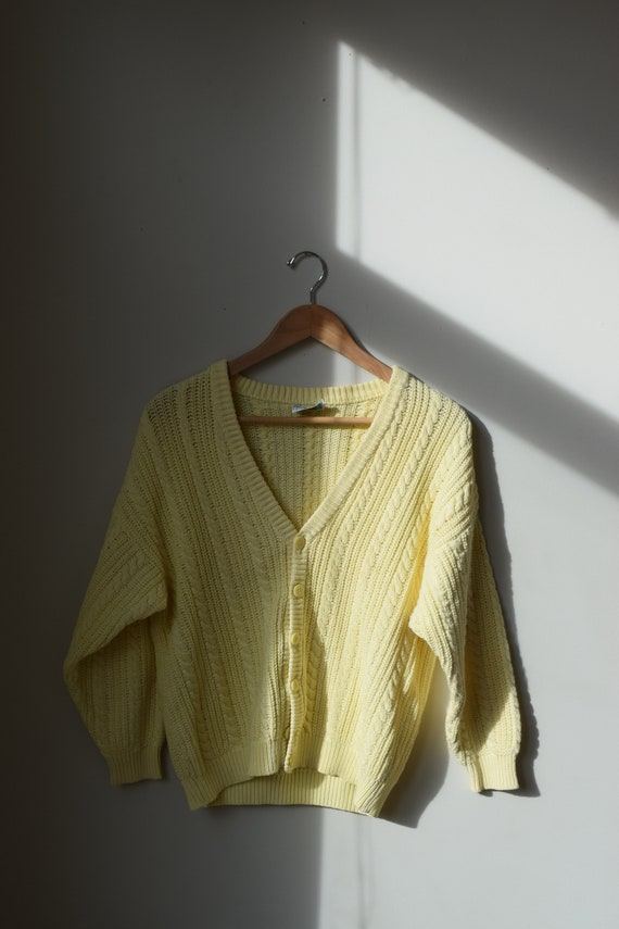 Lemon Cotton Cardigan