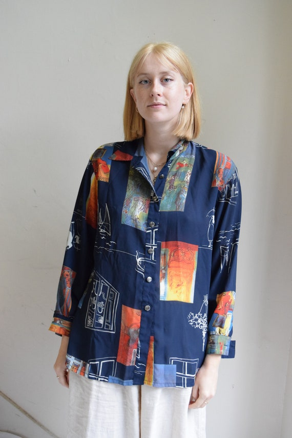 Picasso Patchwork Button-Up Shirt