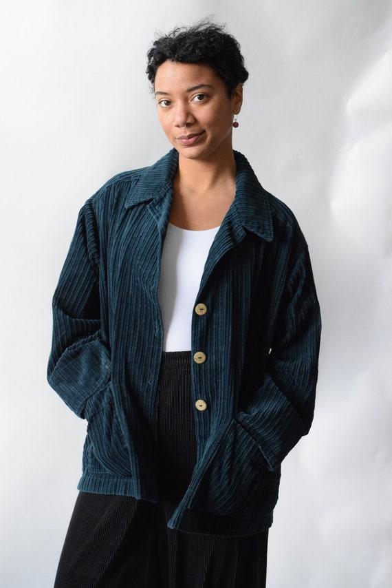 Teal Corduroy Chore Jacket