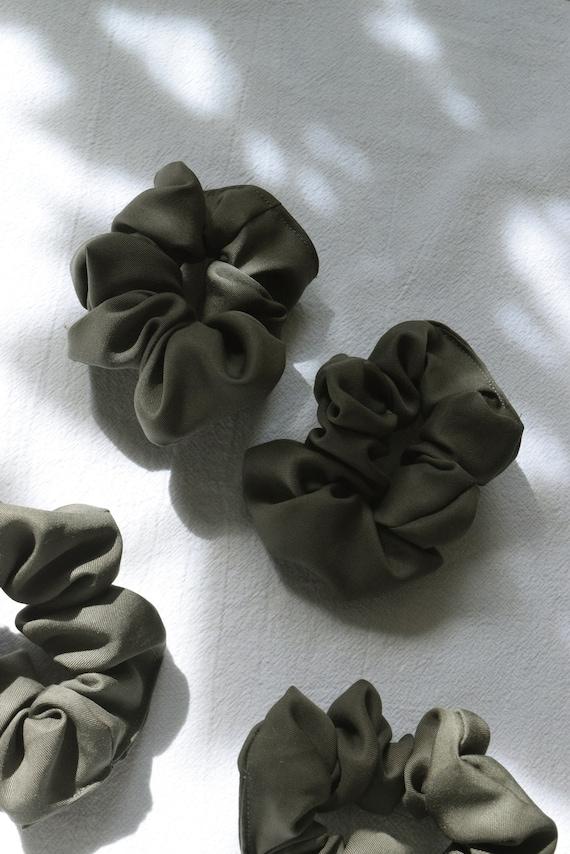 Olive Hair Scrunchies