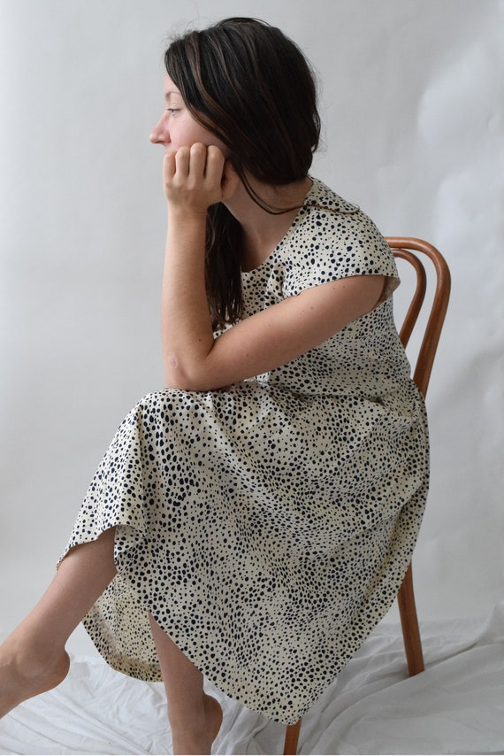 Speckled Silk Skirt and Top Set
