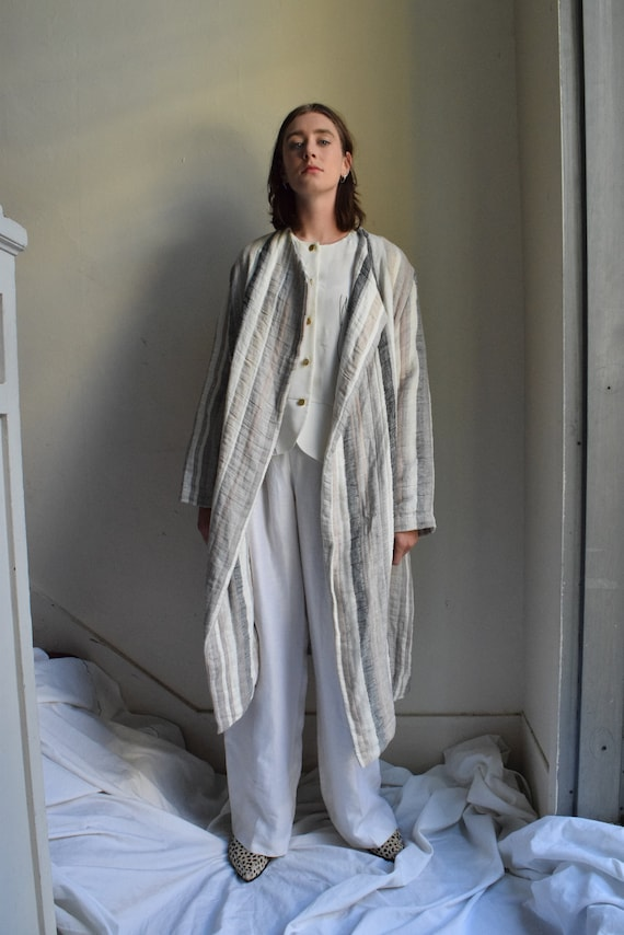 Rowan Quilted Linen Trench