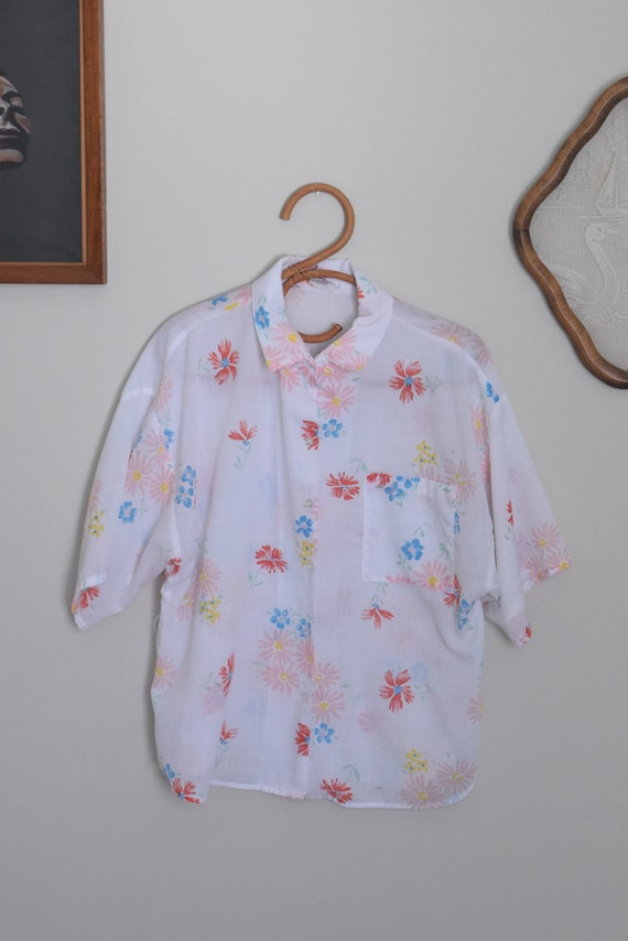 Water-colour Floral Blouse