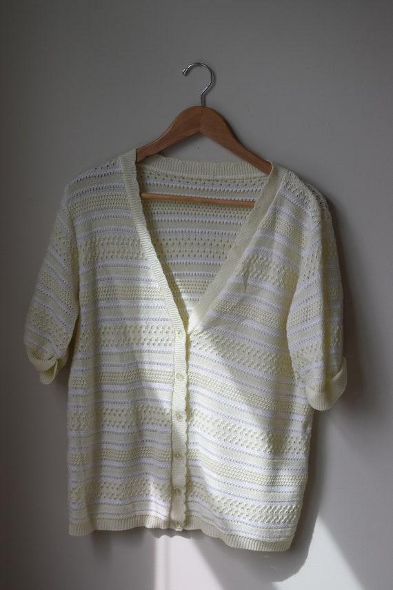 Lemon Striped Knit Tee