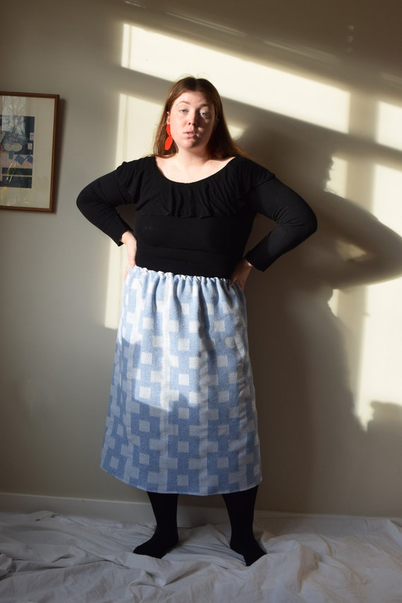 Blue Chain Link Sweater Skirt