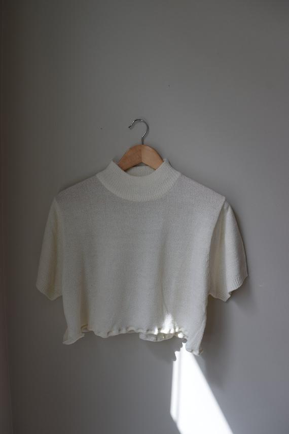 Reworked Cropped Knit Turtleneck