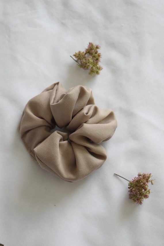 Earl Grey Tencel Hair Scrunchie