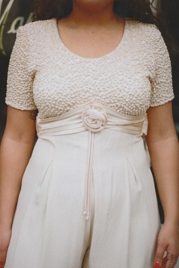Champagne Bridal Jumpsuit
