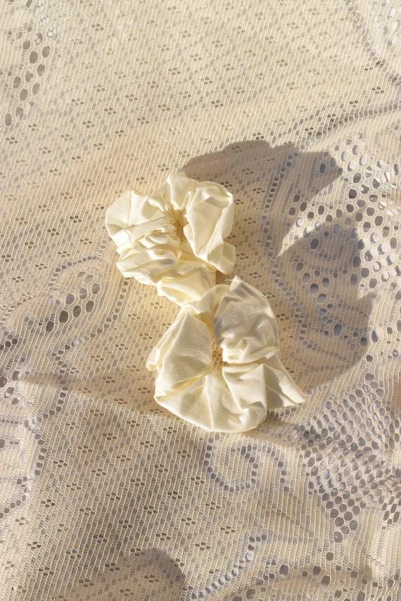Ivory Hair Scrunchie  |  Add-on Item