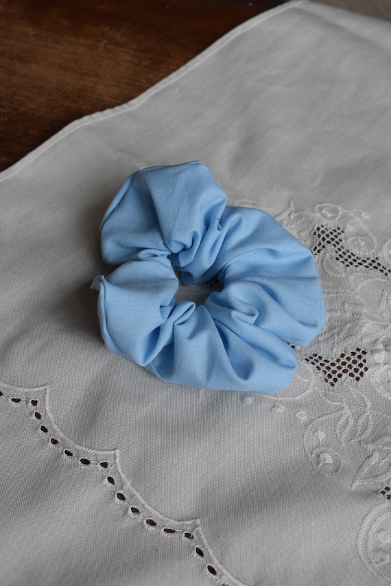 Powder Blue Cotton Hair Scrunchie