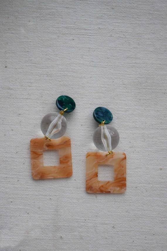 Tiered Acetate Earrings