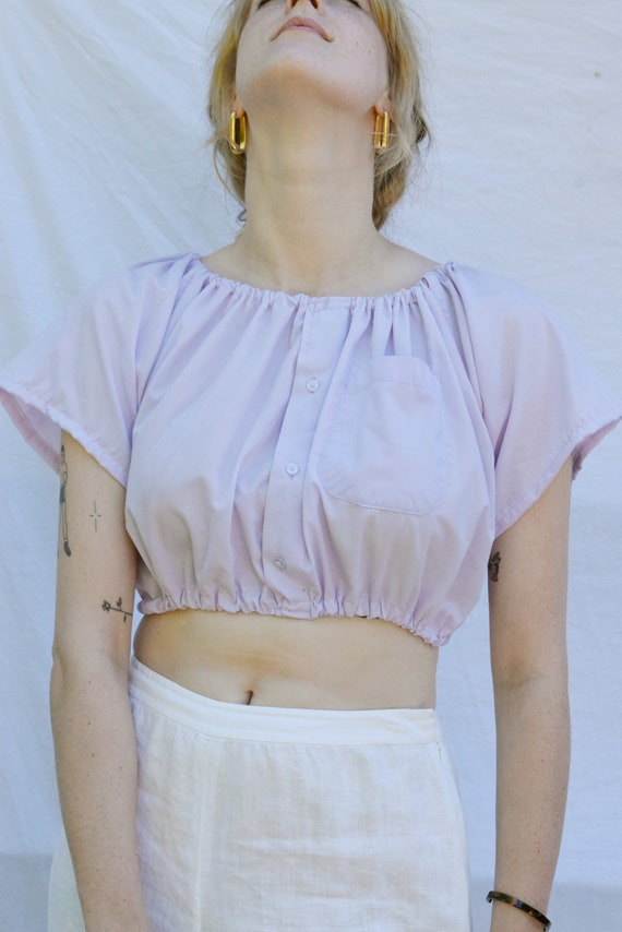 Lena Lavender Off Shoulder Top  |  Print Optional