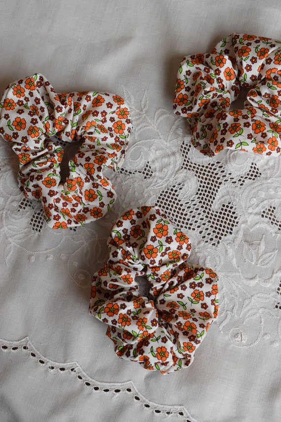 Swedish Floral Hair Scrunchies