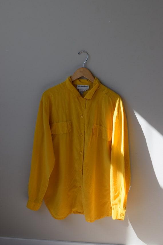 Saffron Silk Blouse