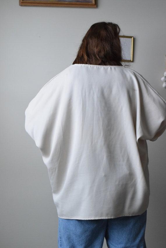 Cropped Bone Tencel Maron Jacket