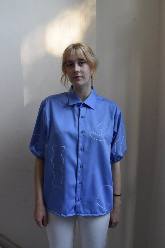 Periwinkle Ira Resew Balloon-Sleeve Shirt
