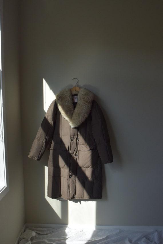 Chocolate Down & Sherpa Puffer Coat