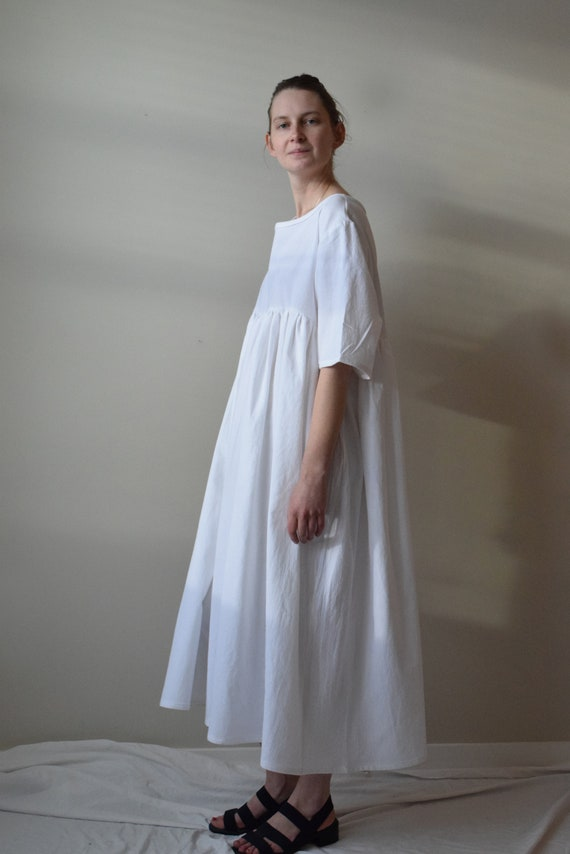 Sawyer White Cotton Dress