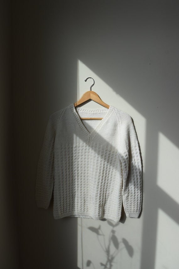 Handknit V-Neck Jumper