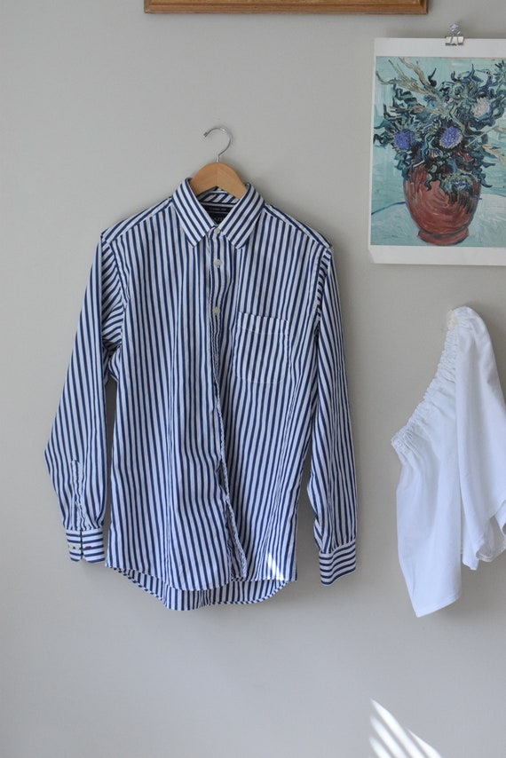 Navy & White Pinstripe Shirt