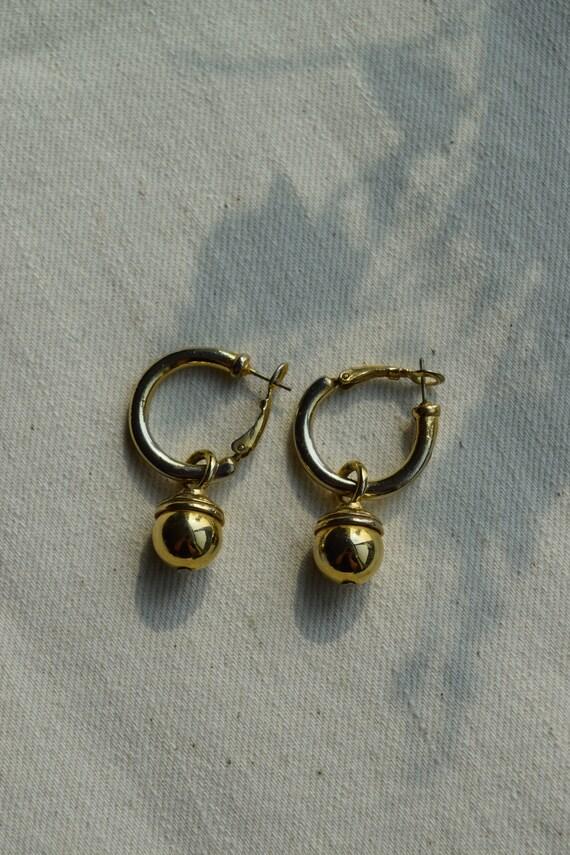 Gold Acorn Hoops