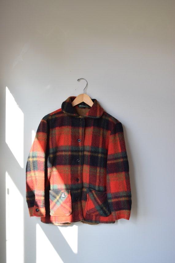 Plaid Wool Camper Coat
