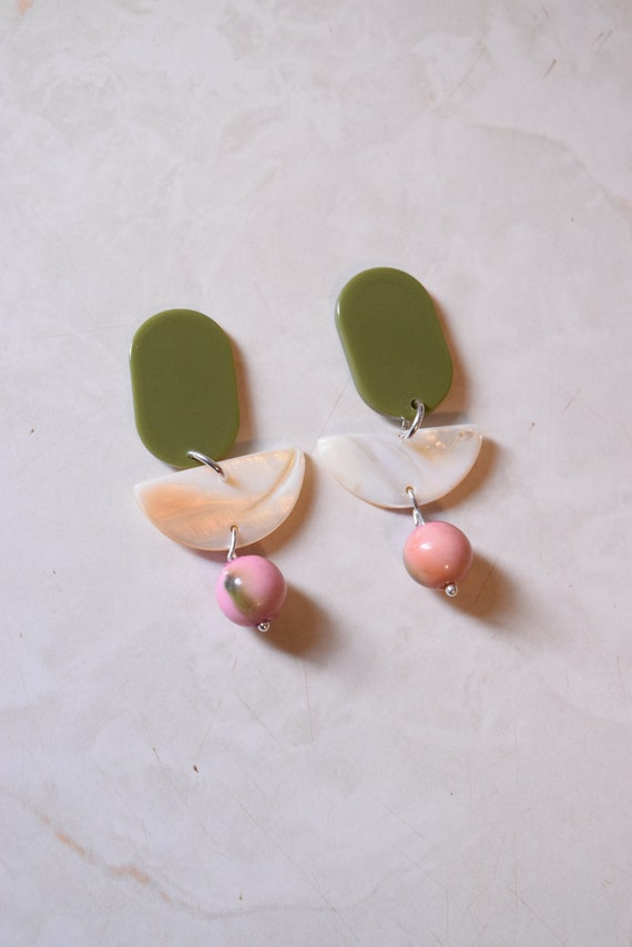 Olio Acetate Earrings.