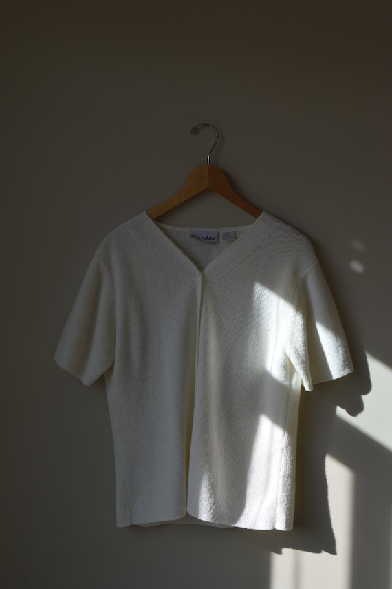 Knit Button Down Tee