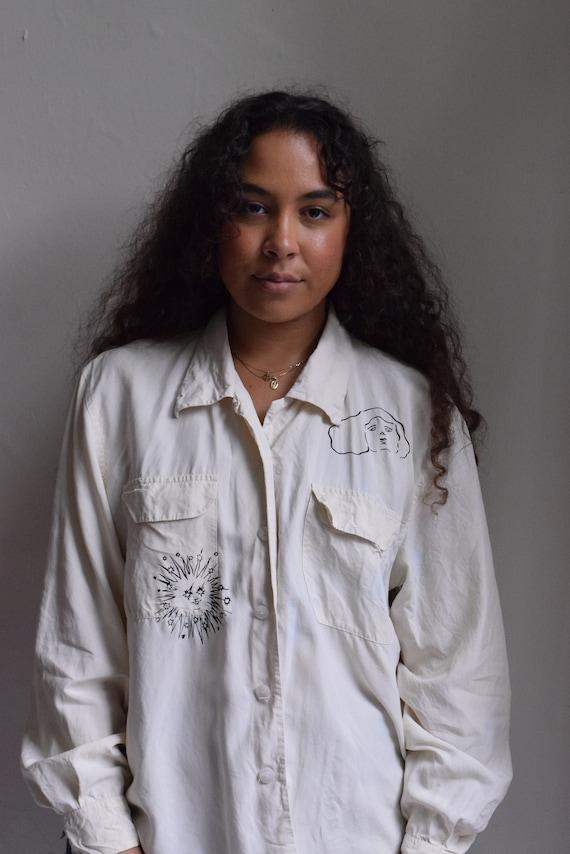 Sola Cream Silk Long Sleeve Blouse