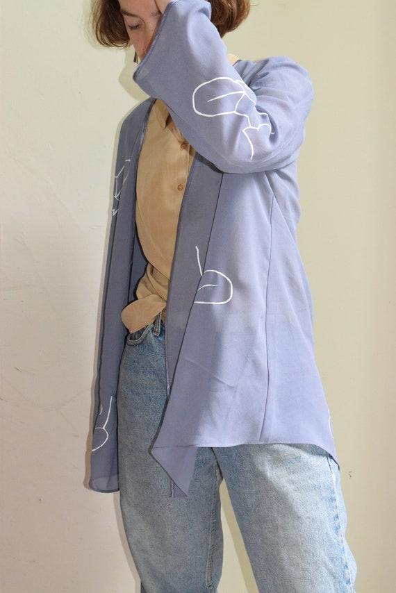 Periwinkle Moira Chiffon Cardigan.