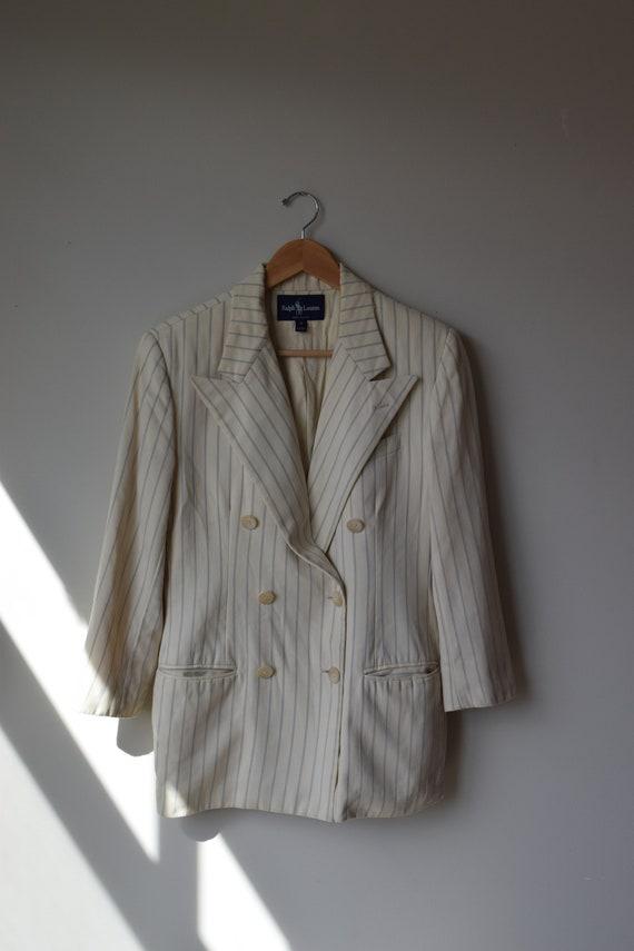 Ralph Lauren Wool Pinstripe Blazer